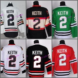 Wholesale Color Quick - Chicago Blackhawks 2 Duncan Keith Hockey Jerseys Sports 2017 Winter Classic Throwback Team Color Red White Green Black