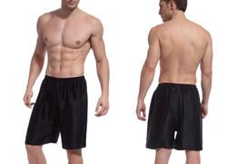 Wholesale Man Sleeping Pants - Wholesale-Men Silk Sleep Bottoms 100% Silk Crepe De Chine Men Pants Factory Direct Sale Dark Blue & Black Free Shipping Free Size
