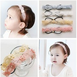 Wholesale Headbands Korea - 2016 New Korea Style Baby Girl Hair ornaments Wide Lace Princess Headbands Girl Headwear Baby Accessories 421