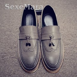 Wholesale Worn Ballet - Wholesale- luxury brand mens pointed toe dress shoes famous loafer male gents formal wear ballet flats zapatos hombre oxford shoes for men