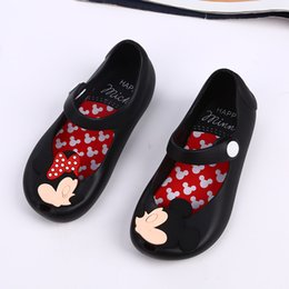 Wholesale Wholesale Little Girl Sandals - Melissa style shoes 4color Mickey Minnie kids toddler 13-17cm inside size baby little girls crystal jelly shoes children beach Sandals