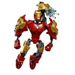 Wholesale Superhero Robot Toy - Kids Gift Sets Superhero Model Robot Building Blocks Toy SETS Super Hero Captain America Iron Man Hulk Decoration Model Perfect for Gifts