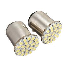 Wholesale Ba15s 22 Smd - 2Pcs 100%1206 SMD Newest Car LED Lamp 1156 BA15S 22 LED 1206 SMD Pure White Auto Turn Signal Reverse Parking Light Bulb DC12V order<$18no tr