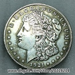 Wholesale Brass Ornaments - 1921-O US Morgan Silver Dollar replica high quality Free shipping 27g 38mm Brass plated with silver