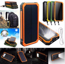 Wholesale Power Bank External Battery Waterproof - HOT 6000mah Waterproof Solar Power Bank External Battery Charger For Mobile Phones