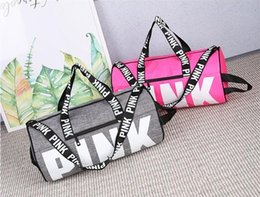 Wholesale Metal Clothes - Fashion Women Handbags Love VS Pink Large Capacity Travel Duffle Striped Waterproof Beach Bag Shoulder Bag