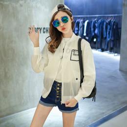 Wholesale Womens Batwing Coats - Wholesale- M-XL 2016 Summer Lady Sun Protection Jacket Ultra Thin Beach Women Sunscreen anti UV Coats Transparent shirts womens (A7588)