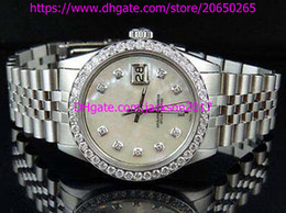 Wholesale Mens Watche - High Quality Christmas gift Luxury mens watches wristwatch Mens 36 MM White MOP Dial Jubilee Band Diamond Watch Automatic Mens Watch Watche