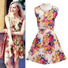 Wholesale New Chiffon China - 2016 New fashion Women Casual Dress Plus Size Cheap China Dress 25 Designs Women Clothing Fashion Sleeveless Summe Dress Free Shipping