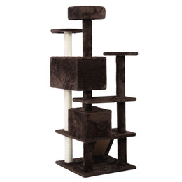Wholesale Pet Furniture Cats - New Cat Tree Tower Condo Furniture Scratch Post Kitty Pet House Play Brow