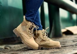 Wholesale Low Ankle Combat Boots Women - New arrival High-quality Autumn Winter Military Tactical Boots Round Toe women's Desert Combat Boots Outdoor Mens Leather Army Ankle Boots