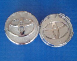 Wholesale Prius Cover - Free Shipping 4pcs set Chrome 57MM Toyota Wheel Hub Caps Wheel Center Caps Covers Emblem For Toyota Yariz 07-12 and Prius 01-09