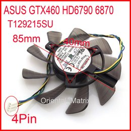 Wholesale Fan Graphics - Wholesale- Free Shipping EVERFLOW T129215SU 12V 0.50A For ASUS GTX460 HD6790 6870 Graphics Card Cooling Fan 4Pin 4Wire