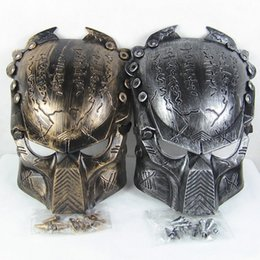 Wholesale Halloween Alien Props - Vivid Alien Movie Peripheral Product Supper Exquisite Replica AVP Predator Mask Metallic Detail Good Quality Film Prop