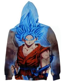 Wholesale Dragon Ball Gt Goku - Games GT Movie Cartoon Dragon Ball Z Goku Zip up Hoodie Athleisure Trend 3D Sweatshirt Fall Winter Art Design Men women Youth Teens Boy Girl