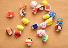 Wholesale Cute Usb Cable - Phone Line Protection Sleeve Cute Cartoon Cover Phone Charging Case Headphone USB Cable Protection Case Multi Selections