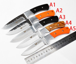 Wholesale Forged Tool Steel - Free Shipping Falcon Handmade Forged hunting knife survival knives 7CR18MOV steel outdoor camping Tactical knfie G10 handle rescue tools fac