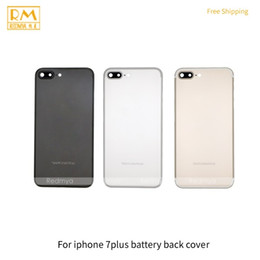 Wholesale Grade House - 1pcs Grade A For iPhone 7G, 7 Plus Battery Door Cover Back Housing Back Cover Rear Case Assembly Silver Black Gold Replacement Phone Parts