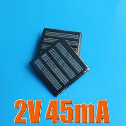 Wholesale Mini Pv - 5PCS X 2V 45mA Mini monocrystalline polycrystalline solar Panel small solar cell PV module for DIY solar Kits
