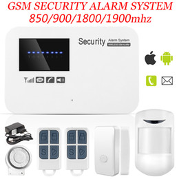 Wholesale Home Alarm Wired - Marlboze IOS Android APP Control Wireless Home Security GSM Alarm System Intercom Remote Control Autodial Wired Siren Sensor Kit