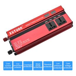 carro seno Desconto 2000 W Liga De Alumínio Caso Car Power Inverter 4 Porta USB Dual Display LCD Converter 12 V 24 V para AC 220 V 110 V CEC_63F