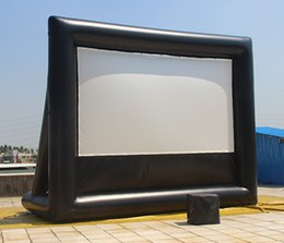 Wholesale Red Theatre - Air-ads 10x6 ft Inflatable Movie Screen No Wrinkle screen fabric; Backyard Professional Home Cinema Commercial Theatre Factory S A;NO Blower