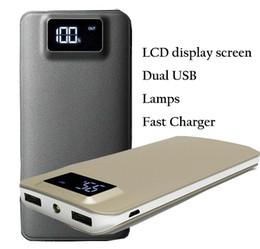 2019 супер цифровой мобильный ЖК портативный Powerbank ультра тонкий Power Bank 20000mah зарядное устройство внешняя батарея с двумя портами USB и аварийной лампой 2017