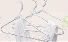 Wholesale Wholesale Plastic Clip Hangers - 5pcs lot 20cm 30cm 40cm Children Plastic Pearl Hanger Baby Hangers For Clothes Kids Plastic Cloth Hanger Child Clothes Rack