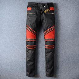 Wholesale Xs Overalls - Robin jeans ankle zip denim overalls plus size biker cowboy pants mens religions robbin jeans simwood 2016 new robins jeans D15