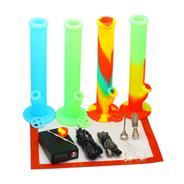 Wholesale Hookah Heater - D dabber nail Kit with silicone bongs hookah Electric nail water pipes heater Coil 10mm 16mm 20mm Titanium Nail Carb Cap