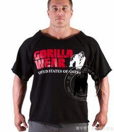 Wholesale Gorilla Fitness - Wholesale- VXO New Men's Shirts,Golds NPC Powerhouse Gorilla Wear Fitness& Bodybuilding & Workout Clothes Terry Cotton High Elastic T-Shirt
