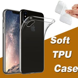 Wholesale Iphone Cases Gel Crystal - Ultra Slim Soft TPU Gel Silicone Flexible Clear Crystal Transparent Case Cover For iPhone X 8 7 Plus 6 6S Samsung Galaxy S9 Plus S8 Note 8