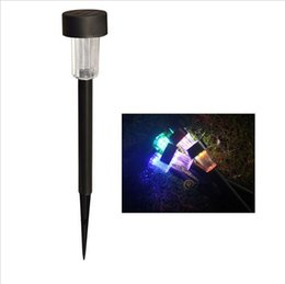 plastic stakes Coupons - LED Solar Light Outdoor Solar Lawn Garden Lights Landscape Path Stake Solar Lamp Plastic LED Spike Lights