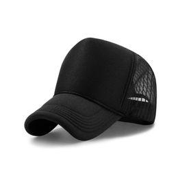 fcf6ecf2262 Wholesale high quality adult Blank trucker hats black white color snapbacks  Curved brim Ball caps Unisex Mesh baseball hats adjust size