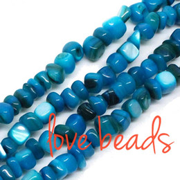 Wholesale Square Shell Beads - Material Stone 5mm-8mm Irregular Square Blue Natural Shell Gravel Beads Stone Loose Beads Strand 80cm Free Shipping(F00312) wholesale