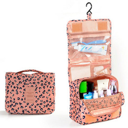 Wholesale Maquillage Leopard - Toiletry Kits for Women Cosmetic Bags Packing Cubes Make up Bag Waterproof Organizer Bags Travel Storage Bags Neceser Trousse de Maquillage