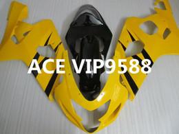 Wholesale Gsxr Black Yellow - 3 gifts Motorcycle Fairing kit for SUZUKI GSXR600 750 K4 04 05 GSXR 600 GSXR 750 2004 2005 Motorcycle Fairings set ABSYellow Black PA31