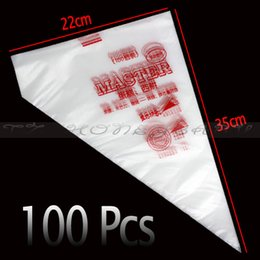 Wholesale Pastry Decorate Bag Large - Wholesale- Free Shipping 100Pcs Set Disposable Pastry Bag Icing Piping Cake Pastry Cupcake Decorating Bags Large