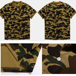 Wholesale New Fashion Camouflage Clothing - Drop Shipping 2017 New FASHION camouflage print polos Men'S 100% Cotton AAPE POLOS tees Japan Brand BAPEST Short Sleeve pOLO cLOTHING