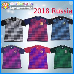 Wholesale Mexico Soccer Jerseys Black - Best qualityTop thai 2017 2018 Russia jersey Colombia messi Argentina soccer jerseys Spain Mexico Germany Training suit Football Shirts