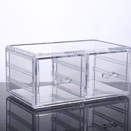 2016 новый завод горячей ясно большой 2 ящика акриловые макияж организатор для коробки ваш лучший выбор от Поставщики очиститель ящиков организатор