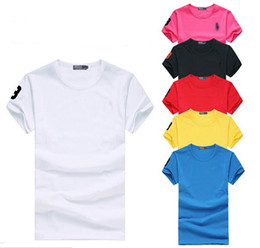 Wholesale Slim Style Shirt For Men - Free shipping 2016 new big horse O-neck short sleeve t-shirt brand women T-shirts casual style for sport women T-shirt S-3XL