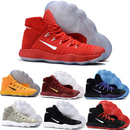 f2826b868 Hot Hyperdunk 2017 High Cut Men Basketball Shoes Red Black White Grey BHM  Air Zoom Hyperdunks React Soles Outdoor Sports Shoes Sneakers