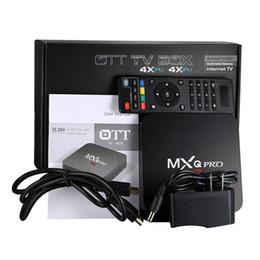 2019 mx amlogique MXQ Pro 4k RK3229 Quad Core Android 7.1 4K Smart TV BOX Boîte de télévision intelligente