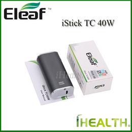 Wholesale Free Simple - Authentic Eleaf iStick TC 40W Mod 2600mah Built-in Battery 40w Temperature Control Mod Simple Paking 4 Color Options Fast Shipping Free DHL