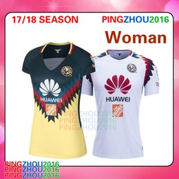 Wholesale Wholesale Women S Jerseys - NEW 17 18 LIGA MX Mexico Club America Women Soccer Jerseys 2017 2018 PERALTA Camiseta de futbo Girl football shirts Size S - XL free DHL