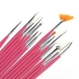 Rose 15 Pcs Conception DIY Peinture Acrylique Outil UV Gel Stylo Vernis À Ongles Nail Art Brush Set # R56 ? partir de fabricateur