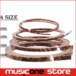 Wholesale Pearl Parts - Cool Guitar Parts Celluloid Guitar Binding Body project Purfling Strip 1650x 6 x1.5mm Tiger Pearl MU1306