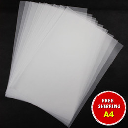 Wholesale Printable Photos - 50 sheets pack 93g TRACING PAPER A4 printable semi transparent for photo album leather craft carving printing painting paper