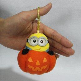 Wholesale Despicable Plush Bags - 161154 New Arrival Despicable Me Minions Plush toys doll key chain pendant car couple bag phone ornaments small gifts Free Shipping